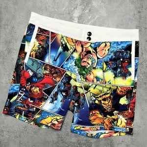 AussieBum Marvel Comic Book Swim Shorts